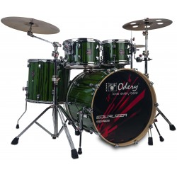 Odery Batería Equalizer Lacquer Emerald Green EQ.220L-EGT