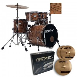 Odery Bateria Inrock IR220 PRO Natural Dunes + Set de Platos Bronz Focused