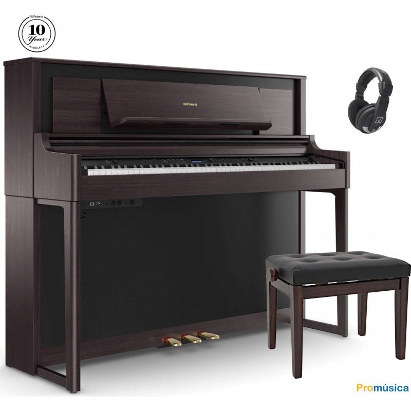 Pack Roland LX-706 Negro + Banqueta + Auricular
