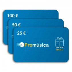 Tarjeta regalo de 25 €, 50 € y 100 €