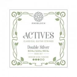 Knobloch Act. Double Silver Carbon C.X. 400ADS Medium-High juego de bajos para las gamas C.X, Q.Z y S.N