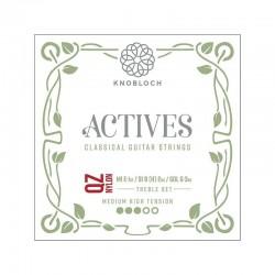 Knobloch Act. Double Silver Carbon Q.Z. 400AQZ Medium High juego de primas