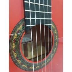 Prudencio Sáez 1-FP 22 Roja Mate Ciprés Guitarra Flamenca
