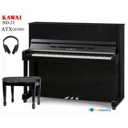 Kawai ND-21 Negro pulido Atx Genio Silent 121CM