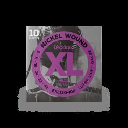 DADDARIO EXL120-10P Pack de...