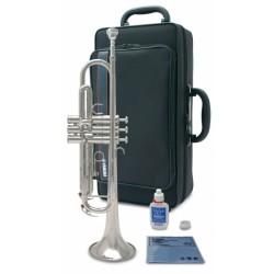 Trompeta Yamaha YTr3335 plata con estuche y accesorios