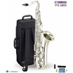 Saxo tenor Yamaha YTS280 en plata con estuche y accesorios