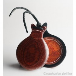 Castañuelas del sur PROFESIONAL Madera roja Veteada blanca Nº 5