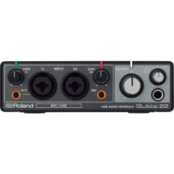 ROLAND RUBIX 22 USB MIDI AUDIO INTERFACE PC/MAC/IPAD